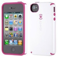 Speck SPK-A0588 Candyshell Glossy Case for iPhone 4S/4 - 1 Pack - Retail Packaging - White/Pink