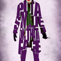 Joker Inspired Poster - Minimalist The Dark Knight Typography Poster