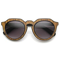 Trendy Womens Designer Block Cut Pattern Sunglasses 9156