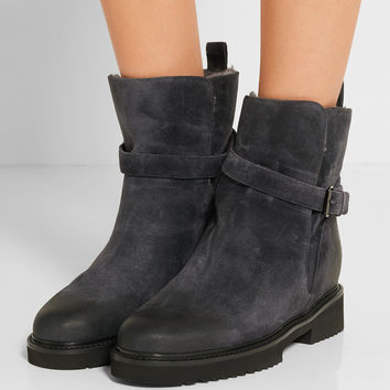 Vince - Claudia shearling-lined suede ankle boots