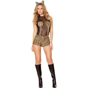 ESBON Games Club Sexy Leopard Costume Anime Halloween Uniform [8979056071]
