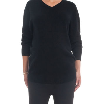 HATCH Collection Cashmere Boyfriend Sweater - Black -