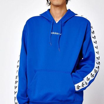 DCCKYB5 adidas TNT Tape Blue and White Pullover Hoodie