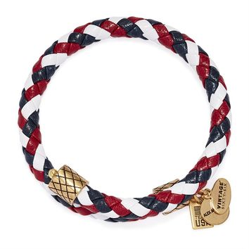 Team USA Braided Leather Wrap