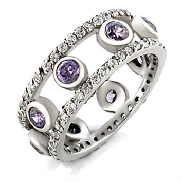 Purple Rayne Silver Band Ring