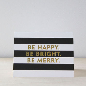 Sugar Paper Be Merry Card