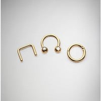 Rose Gold CZ Septum Ring 3 Pack - 16 Gauge - Spencer's