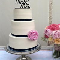 Mrs & Mrs Wedding Cake Topper - same sex wedding - LGBT wedding - gay cake topper - lesbian cake topper - bride and bride
