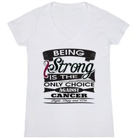 Throat Cancer Being Strong Shirts