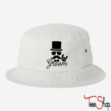 Groom Wedding Marriage Stag do night bachelor bucket hat