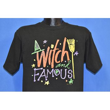 80s Witch and Famous Halloween Funny Pun t-shirt Medium