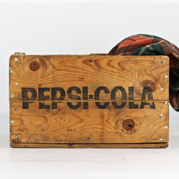 Pepsi Wood Crate, Pepsi Cola Wood Crate, Vintage Pepsi Crate, Old Wood Pepsi Crate, Wooden Pepsi Crate, Wood Pepsi Cola Crate, Industrial