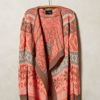 Alna Fairisle Cardigan by La Fee Verte Red Motif