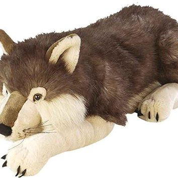 Wild Republic Jumbo Wolf Plush, Giant Stuffed Animal, Plush Toy, Gifts for Kids