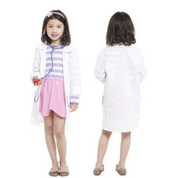 PEAPON Disfraces Girls Nurse Cosplay Kids Doctors Costume Masquerade Fantasia Halloween Costumes for Children Fancy dress
