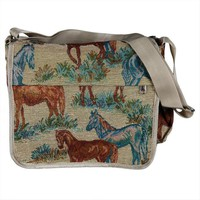 ONETOW Horse Tapestry Messenger Bag