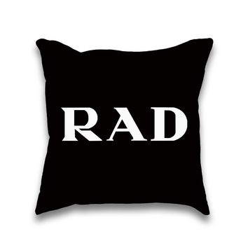Rad Couture Typography Typography Throw Pillow