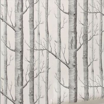Textured Tree Forest Woods Wall Paper Background Wallpaper Roll Living Room Hotel Restaraunt Decor Diy Art