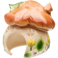 Petco Ceramic Mushroom House Small Animal Hideaway