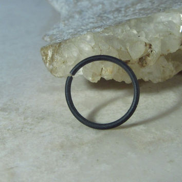 Helix Hoop Earring Black Niobium Endless Single