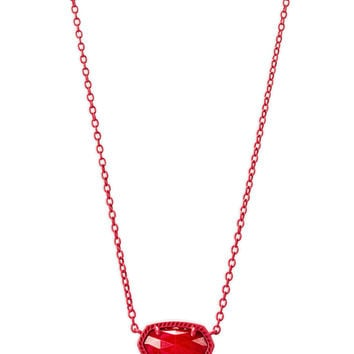 Elisa Matte Necklace Red Pearl | Kendra Scott