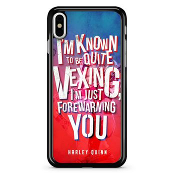 Harley Quinn Quote 3 iPhone X Case
