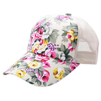 Vintage Flower Baseball Caps Summer Women Snapback Outdoor Sports Hats For Women Grils