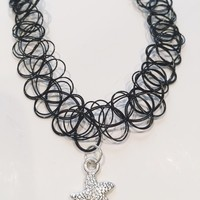 Azelia Starfish Tattoo Choker Necklace