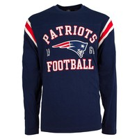 New England Patriots Lateral Felt Applique Long Sleeve Jersey T-Shirt
