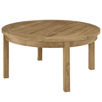 Natural Marina Outdoor Patio Teak Round Coffee Table