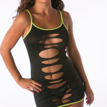 Eye Catching Sexy Two Way Black Athletic Minidress Lingerie