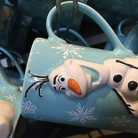 disney parks frozen olaf 3d do you want to build a snowman ? coffee mug new