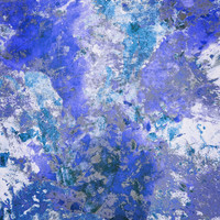 Cornflower Blue Abstract Painting Art Print by TigaTiga Artworks