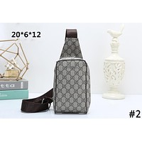 GUCCI Tide brand double G printing men and women models wild casual chest bag Messenger bag #2