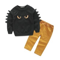Autumn Winter Baby Boy Cute Clothing 2pc Pullover Sweatshirt Top + Pant Clothes Set Baby Toddler Boy Outfit Suit