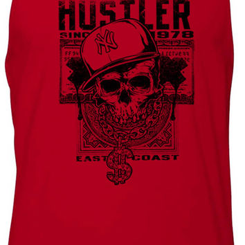 East Coast Hustler Skull (Black) Tank-Top T-Shirt