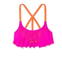 Strappy Back Flounce Top - PINK - Victoria's Secret