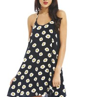 AX Paris Women's Daisy Print Strappy Swing Dress