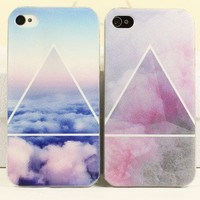 Scrub Blue/Pink Cloud Case for iPhone 4 4S from Fancywanelo