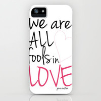 Fools in Love iPhone Case by Erin Johnson | Society6
