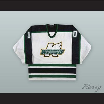 Jason Botterill 10 Michigan K-Wings White Hockey Jersey