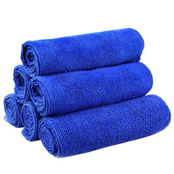 Five Pack Bulk Deep Blue Color Microfiber Cleaner Towels 10""
