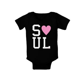 Matching Soulmate Design - Soul - Pink Baby Bodysuit Dark by TooLoud
