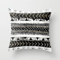 Free-Geo II Throw Pillow by Matthew White