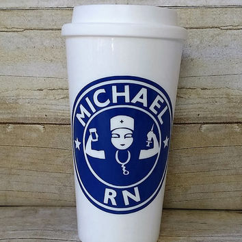 Male Nurse Starbuck's Cup - Male RN - Custom Reusable Coffee Cup - Personalized Male Nurse's Cup - Registered Nurse Gift