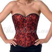 Satin and lace Corset T-251