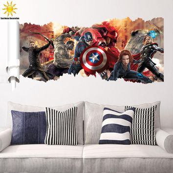 New Avengers Star Wars 3D Sticker Kids Wall Stickers Bedroom Living Room Walls Wall Stickers Home Decor Sticker Mural