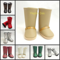 American Girl Doll Boots Off White, Beige, Green, Silver, Black, Brown, Burgundy, Red