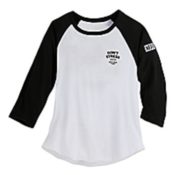 Mickey Mouse Don't Stress Raglan Sleeve Tee for Juniors by Neff