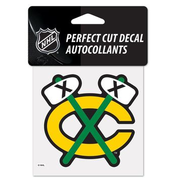 CHICAGO BLACKHAWKS 4X4 PERFECT CUT DECAL-TOMAHAWK